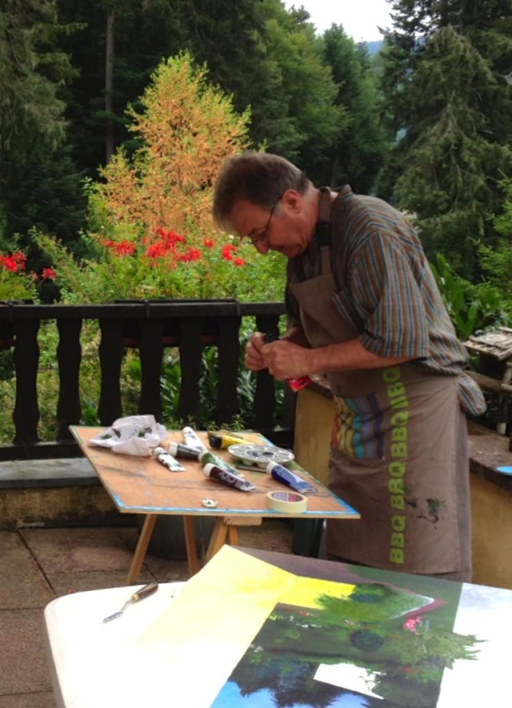 François entrain de peindre