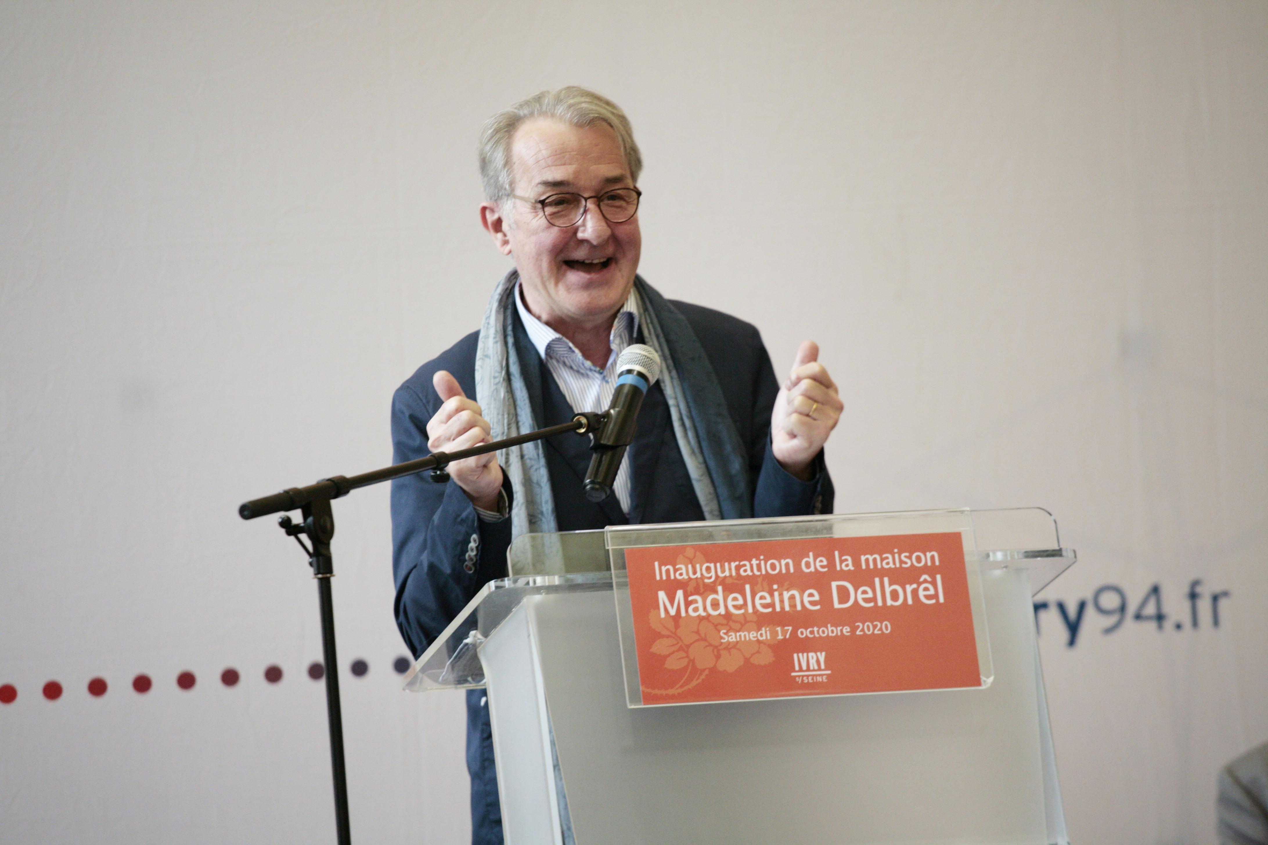 François Destors lors de l'inauguration du 17/10/20